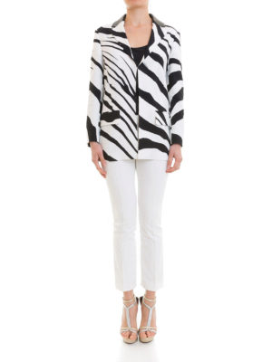 ROBERTO CAVALLI: giacche blazer online - Blazer in misto viscosa zebrato