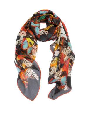 Roberto Cavalli: scarves - Butterfly silk scarf