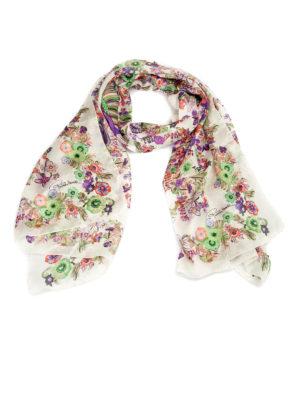 Roberto Cavalli: scarves - Enchanted garden silk scarf