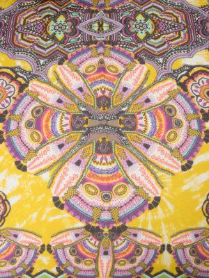 Roberto Cavalli: scarves online - Aztec print fringed foulard