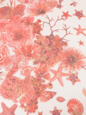 Roberto Cavalli: scarves online - Coral Reef red silk scarf