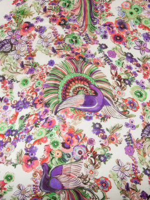 Roberto Cavalli: scarves online - Enchanted garden silk scarf