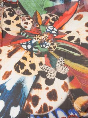 Roberto Cavalli: scarves online - Mariposa and Wild Python silk scarf