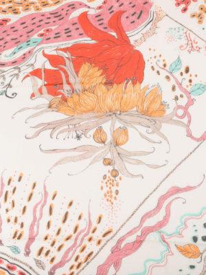 Roberto Cavalli: scarves online - Under Sea silk scarf