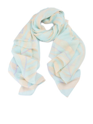 Roberto Cavalli: scarves - Two-tone zebra silk scarf