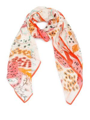 Roberto Cavalli: scarves - Under Sea silk scarf