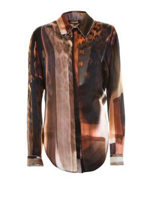 Roberto Cavalli: shirts - Chain embellished silk shirt