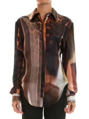 Roberto Cavalli: shirts online - Chain embellished silk shirt