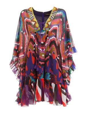 Roberto Cavalli: short dresses - Dreamscape embroidered dress
