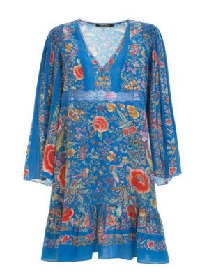 Roberto Cavalli: short dresses - Enchanted Garden silk dress