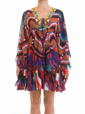 Roberto Cavalli: short dresses online - Dreamscape embroidered dress