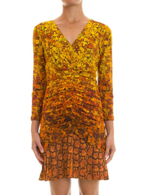 Roberto Cavalli: short dresses online - Flared skirt printed sheath dress