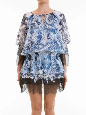Roberto Cavalli: short dresses online - Phoenix lace detail dress