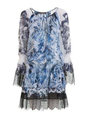 Roberto Cavalli: short dresses - Phoenix lace detail dress