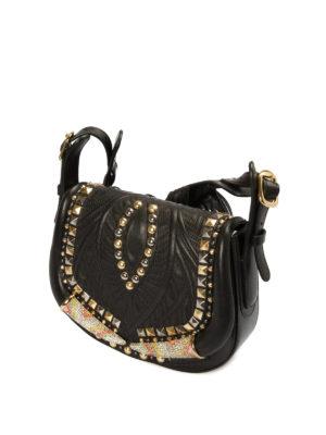 Roberto Cavalli: shoulder bags online - Horn stud embellished saddle bag