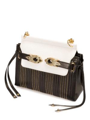 Roberto Cavalli: shoulder bags online - Jewel snake straps leather bag