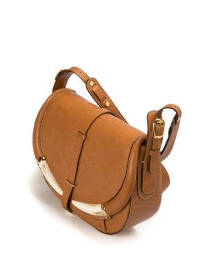 Roberto Cavalli: shoulder bags online - Smooth leather horn detailed bag