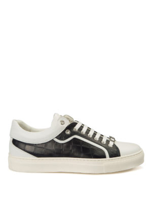 Roberto Cavalli: trainers - Croco print side leather sneakers