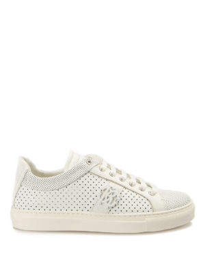 Roberto Cavalli: trainers - Drilled leather sneakers