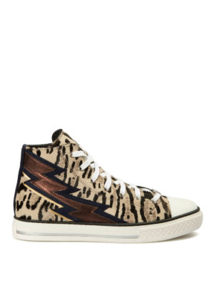 Roberto Cavalli: trainers - Flash detailed haircalf shoes