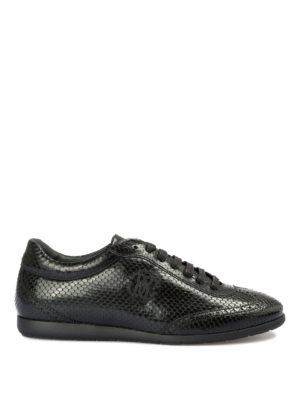 ROBERTO CAVALLI: sneakers - Sneaker in pelle stampa pitone