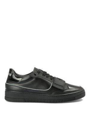ROBERTO CAVALLI: sneakers - Sneaker in pelle con cinturino in gomma