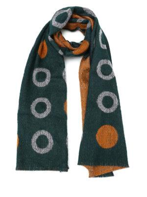 Roda: scarves - Circles pattern wool blend scarf