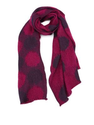 Roda: scarves - Fuchsia jacquard wool blend scarf