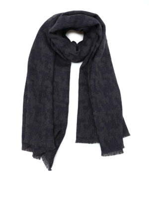 Roda: scarves - Houndstooth wool jacquard scarf