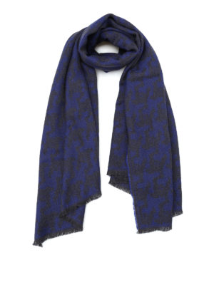 Roda: scarves - Maxi houndstooth wool scarf