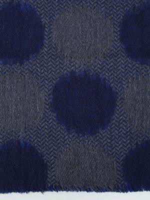 Roda: scarves online - Blue jacquard wool blend scarf