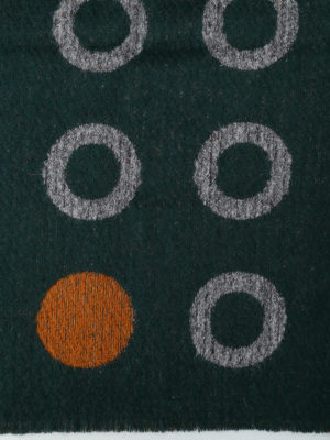 Roda: scarves online - Circles pattern wool blend scarf
