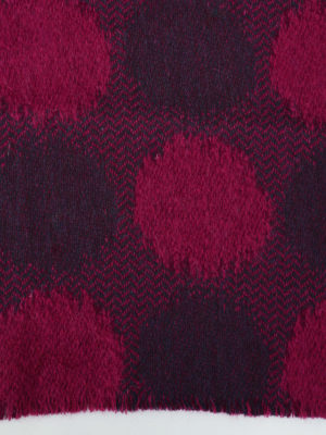 Roda: scarves online - Fuchsia jacquard wool blend scarf