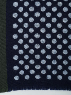 Roda: scarves online - Wool scarf with pale blue polka dot