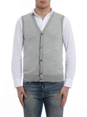 Roda: vests online - Cotton jacquard vest