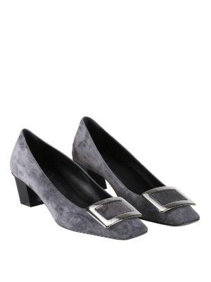 Roger Vivier: court shoes online - Belle Vivier suede pumps