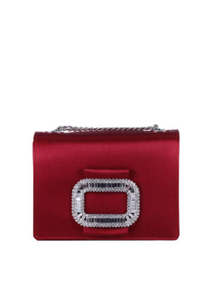 Roger Vivier: cross body bags - Pilgrim Micro embellished satin bag