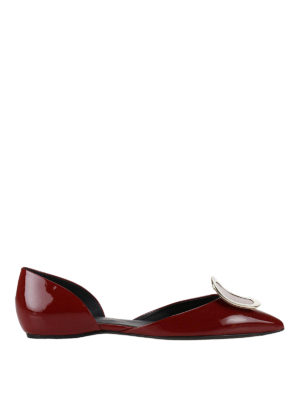 Roger Vivier: flat shoes - Dorsay red patent flats