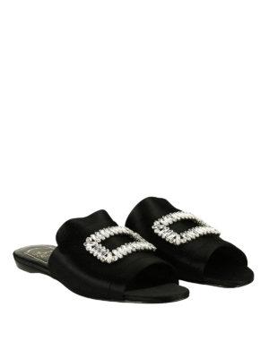 Roger Vivier: sandals online - Rabat sateen jewel sandals