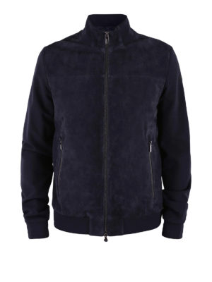 RRD: giacche in pelle - Giacca Polisuede Val blu