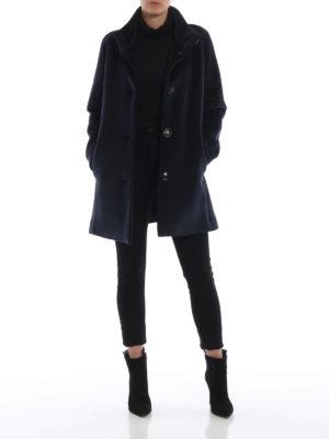 RRD: cappotti corti online - Cappottino Neo Velvet Lady blu scuro