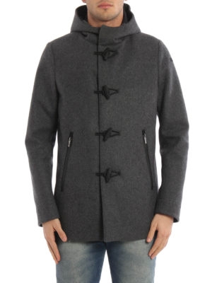 RRD: parkas online - Wool Montgomery hooded parka