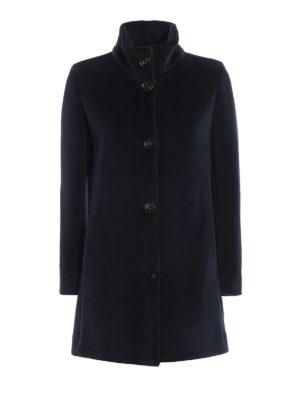 RRD: cappotti corti - Cappottino Neo Velvet Lady blu scuro