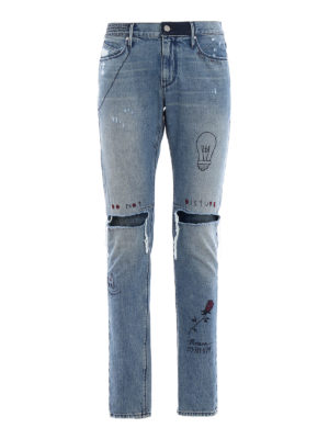 Rta: skinny jeans - Palm Springs distressed jeans