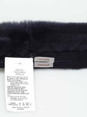 S Max Mara: scarves online - Lipsia lapin fur collar