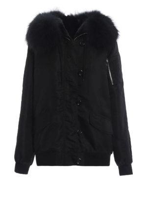 S.W.O.R.D 6.6.44 LONDON: giacche casual - Giacca in nylon con cappuccio e pelliccia