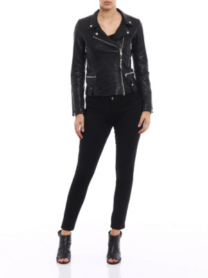 S.W.O.R.D 6.6.44 London: leather jacket online - Soft leather fitted jacket