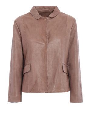 S.W.O.R.D 6.6.44 London: leather jacket - Vintage leather flared jacket