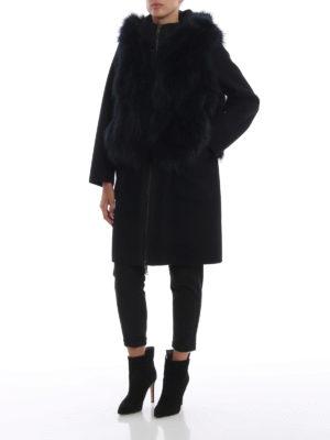 S.W.O.R.D 6.6.44 LONDON: Pellicce e montoni online - Cappotto in panno con gilet di pelliccia