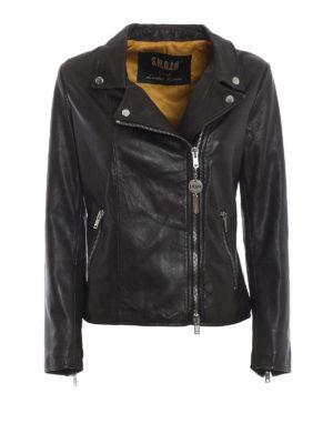 S.W.O.R.D: giacche in pelle - Giacca in morbida nappa marrone scuro